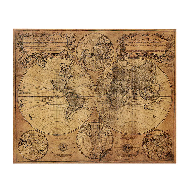 Vintage retro 1746 wall world map paper poster home wall decor vintage retro 1746 wall world map paper poster home wall decor gumiabroncs Image collections