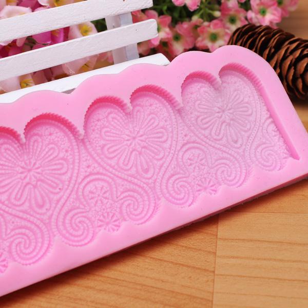 Heart Shape Silicone Fondant Lace Mold Cake Decorating Mould