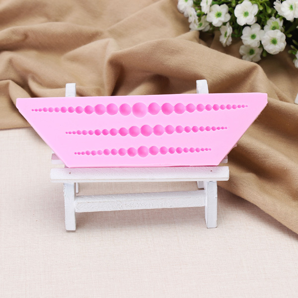 3D Pearl Necklace Silicone Fondant Mold Cake Decorating Mould