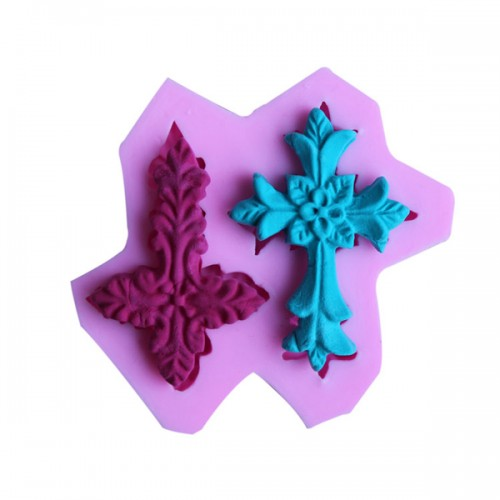 Cross Silicone Fandant Mold Chocolate Polymer Clay Mould