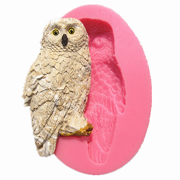 Cute Owl Silicone Fondant Cake Mold Chocolate Polymer Clay