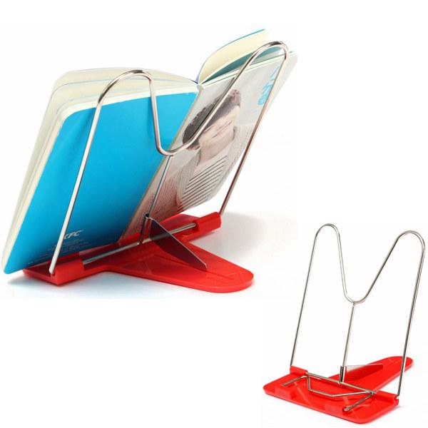 Adjustable Foldable Reading Book Stand Document Holder Random Color