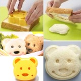 DIY Plastic Bear Cake Cutter Sandwich Toast Bread Mold Maker
