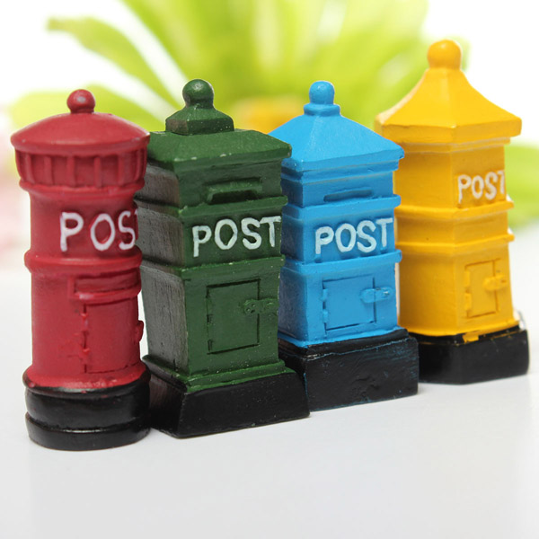 retro postbox micro landscape decorations garden diy decor alex nld. Black Bedroom Furniture Sets. Home Design Ideas