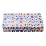 100 Pcs Standard White 10mm Game Dice Blue RED Party Bar Supply