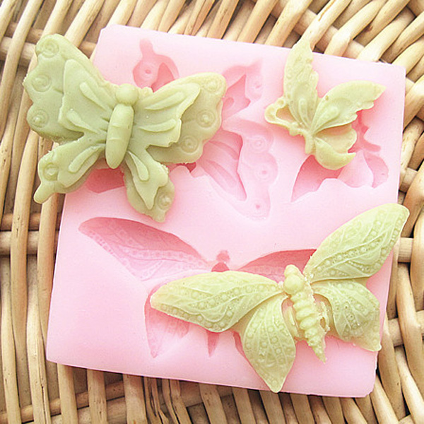 Butterfly Silicone Fondant Cake Mold Soap Mold Chocolate Mould ...