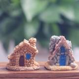 Resin Stone House Micro Landscape Decorations Garden DIY Decor