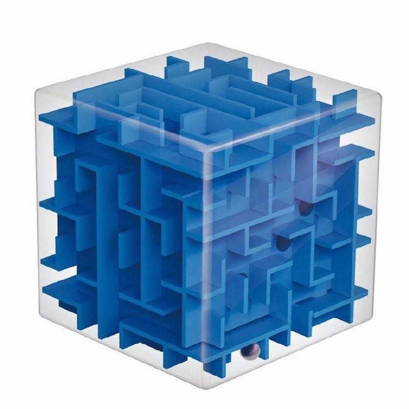 Magic Cube Maze Labyrinth Rolling Ball Balance Brain
