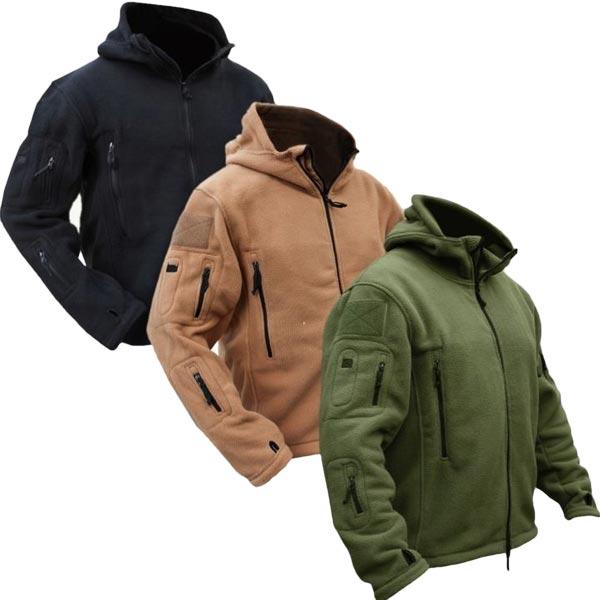 Men Tactical Military Winter Fleece Hooded Outdoor Jacket | Alex NLD
