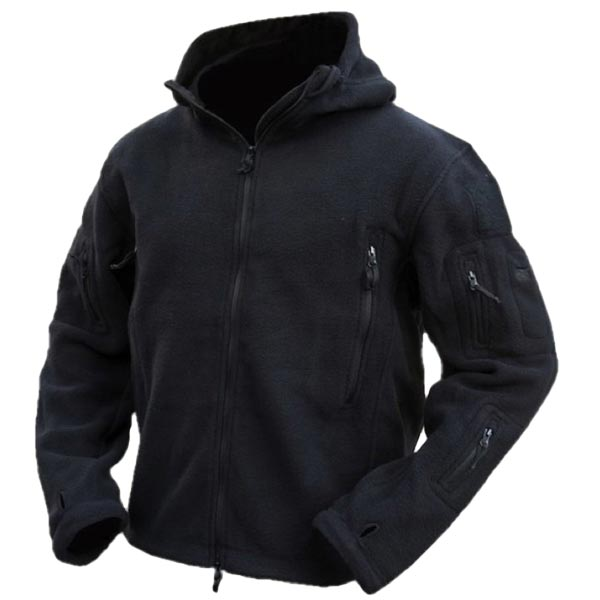 Men Tactical Military Winter Fleece Hooded Outdoor Jacket | Alex NLD