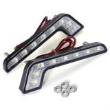 L Shape 5W LED DRL Daytime Running Lights Fog Lamp White for Benz C E S