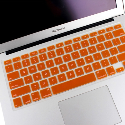 new arrival 00bf2 91055 ENKAY Soft Silicone Keyboard Protector Cover Skin for MacBook Air 13.3 inch  / Macbook Pro with Retina Display (13.3 inch / 15.4 inch ), Orange