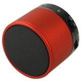 Bluetooth V2.1 Mini Stereo Speaker for Samsung Galaxy S IV / i9500 / SIII / i9300 / i8190 / S7562 / i8750 / i9220 / N7000 / i9100 / i9082 / iPhone 5 / iPhone 4 & 4S / New iPad / BlackBerry Z10 / HTC / Nokia / Other Mobile Phones, Support Handsfree Function, Built-in Rechargeable Battery, Support TF Card (Red)