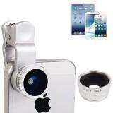 3 in 1 Photo Lens Kit  (180 Degree Fisheye Lens + Super Wide Lens + Marco Lens) for iPhone 5 / iPhone 4 & 4S / iPad 4 / iPad mini 1 / 2 / 3 / New iPad  (iPad 3) / iPad 2 / iPad / Samsung N7100,Other Mobile Phone with Camera (Silver)