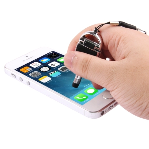 Multi-functional High-Sensitive Capacitive Stylus Pen / Touch Pen with Mobile Phone Holder  (Silver)