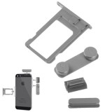 4 in 1  (High Quality Alloy Material Colorful Nano SIM Card Slot + Volume Button + Power Button + Mute Button) for iPhone 5 & 5S
