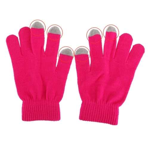 Touch Screen Gloves for iPhone 5, iPhone 4 & 4S / iPad / iPod touch (Magenta)