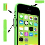 3 in 1  (Mute Button + Power Button + Volume Button) for iPhone 5C, Green