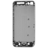 Full Housing Alloy Replacement Back Cover with Mute Button + Power Button + Volume Button + Nano SIM Card Tray for iPhone 5S (Grey)