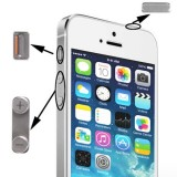 New High Quality 3 in 1 Alloy Material  (Mute Button + Power Button + Volume Button) for iPhone 5S, Silver