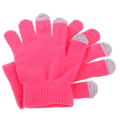 Dot Gloves of Touch Screen for iPhone 5, iPhone 4 & 4S / iPad / iPod Touch, BlackBerry, HTC and other Touch Screen Mobile Phones (Pink)