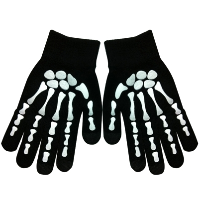 Skeleton Fingers Coating Dot Gloves of Touch Screen for iPhone 5, iPhone 4 & 4S / iPad / iPod Touch, Samsung, BlackBerry, HTC and other Touch Screen Mobile Phones (White)