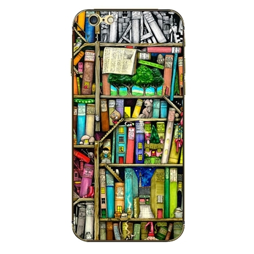 Bookshelf Pattern Mobile Phone Decal Stickers for iPhone 6