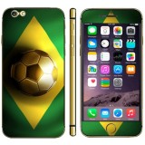 Brazil Flag Pattern Mobile Phone Decal Stickers for iPhone 6 Plus