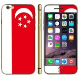 Singapore Flag Pattern Mobile Phone Decal Stickers for iPhone 6 Plus