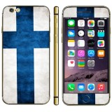 Finnish Flag Pattern Mobile Phone Decal Stickers for iPhone 6 Plus