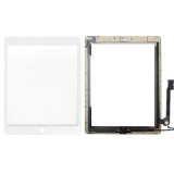 Controller Button + Home Key Button PCB Membrane Flex Cable + Touch Panel Installation Adhesive) Replacement Touch Panel for iPad 4 (White)
