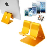 Aluminum Stand for New iPad  (iPad 3) / iPad 2 / iPhone 5 / iPhone 4 / Samsung Galaxy Tab 2  (10.1) / P5100 / Galaxy Tab 2  (7.0) / P3100 / Galaxy Tab 7.0 Plus / P6200 / All Tablet PC / Other Mobile Phones  (Golden)