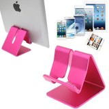 Aluminum Stand for New iPad  (iPad 3) / iPad 4 / iPad 2 / iPhone 5 / iPhone 4 / Samsung Galaxy Tab 2  (10.1) / P5100 / Galaxy Tab 2  (7.0) / P3100 / Galaxy Tab 7.0 Plus / P6200 / All Tablet PC / Other Mobile Phones  (Pink)