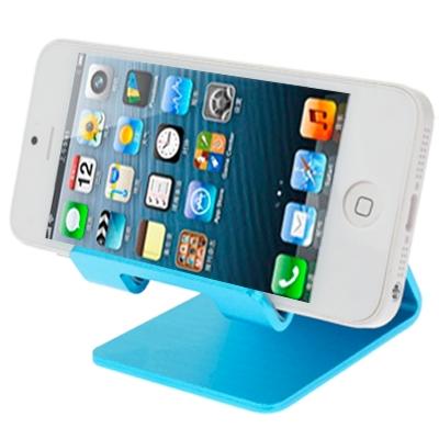 Aluminum Stand for New iPad  (iPad 3) / iPad 4 / iPad 2 / iPhone 5 / iPhone 4 / Samsung Galaxy Tab 2  (10.1) / P5100 / Galaxy Tab 2  (7.0) / P3100 / Galaxy Tab 7.0 Plus / P6200 / All Tablet PC / Other Mobile Phones  (Blue)