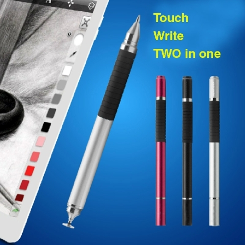 2 in 1 Stylus Touch Pen + Ball Pen for iPhone 6 & 6 Plus / 5 & 5S & 5C, iPad Air 2 / iPad mini 1 / 2 / 3 / New iPad  (iPad 3) / iPad and All Capacitive Touch Screen (Black)