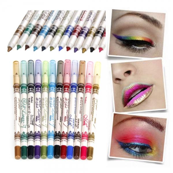12 colors m n waterproof glitter eyeliner eyeshadow lip for Eyeliner tattoo mn