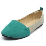 Women Ballet Slip-on Pointed Toe Flat Shoes Loafers