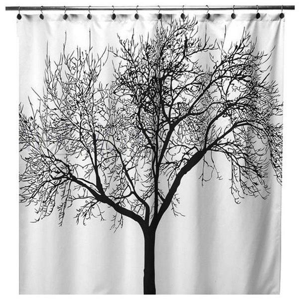 Polyester Fabric Black Tree Branch Bath Shower Curtains SKU030170 11