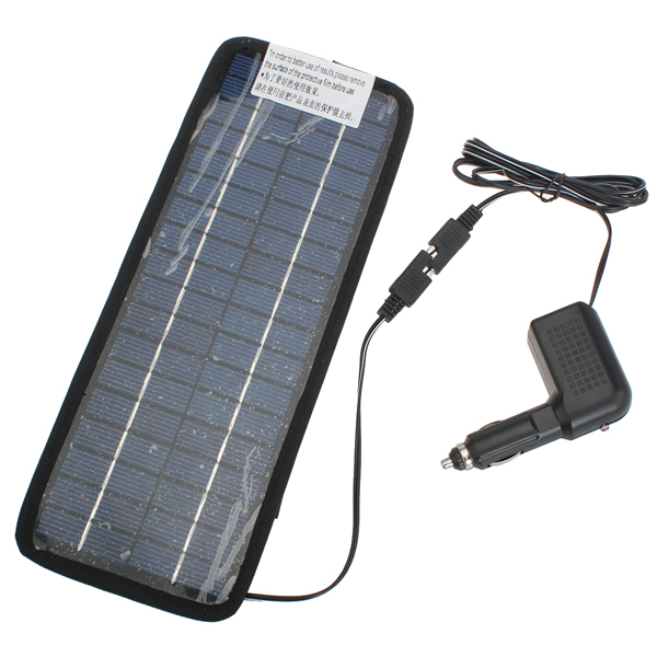 V W Solar Power Panel Auto Car Battery Charger