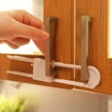 2pcs U Shaped Lock Child Safety Lock Baby Safety Cabinet Drawer Lock
