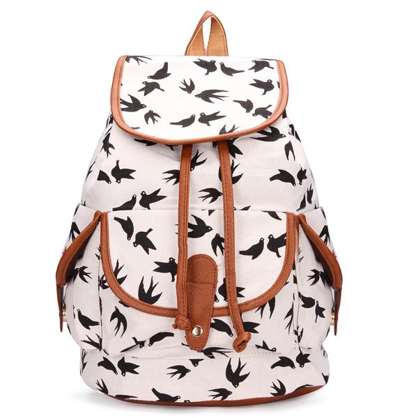 Girls Printing Canvas Backpack | Alex NLD