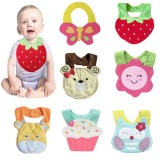 Baby Cute Cartoon Soft Saliva Towel Infant Lunch Bibs