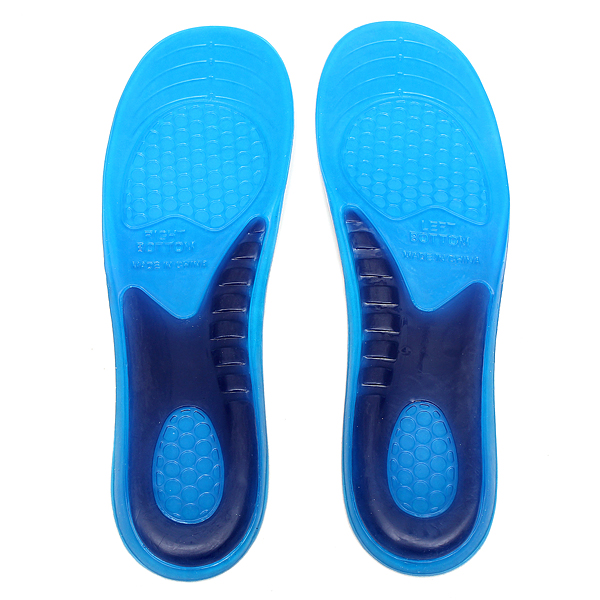 gel orthotic arch support massaging sport shoe