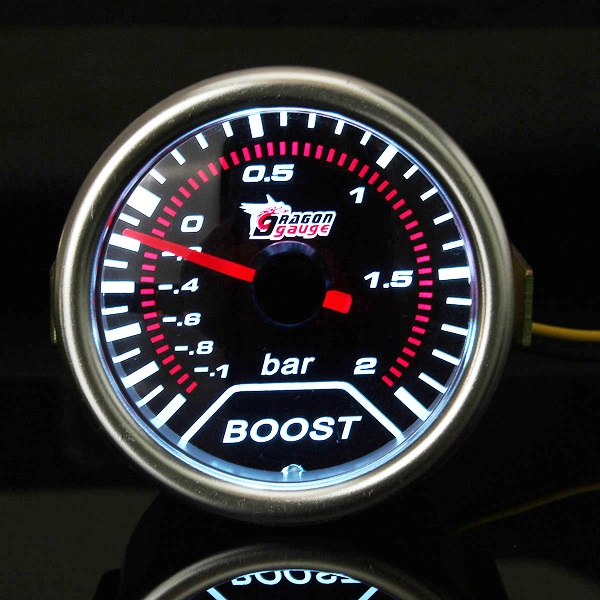 Led Car Gauges : Inch universal car red led boost auto gauge to bar
