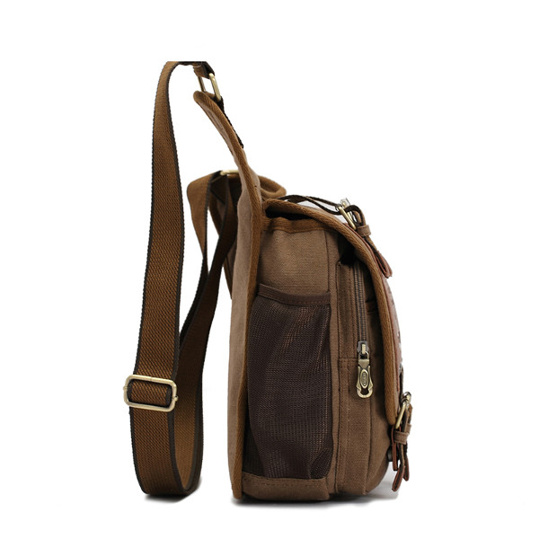 Men's Retro Canvas Travel Shoulder Bags Messenger Bag | Alex NLD