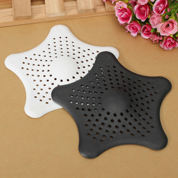 Rubber Starfish Hair Strainer Shower Drain Cover Hairs Catcher