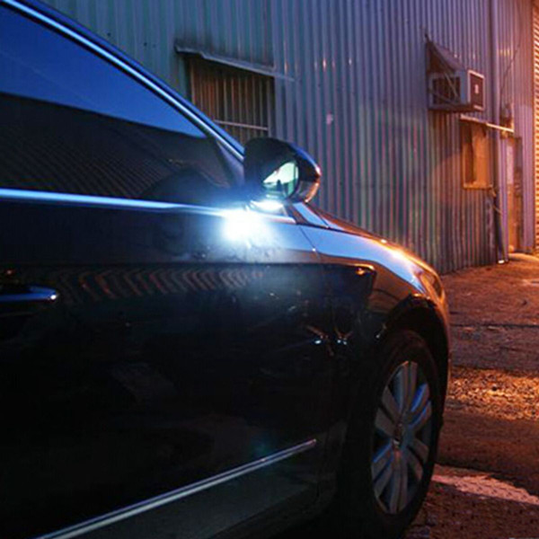 White Under Side Mirror Puddle 6 Led Light Lamp For Vw Golf Gti Mk6 Alexnld Com