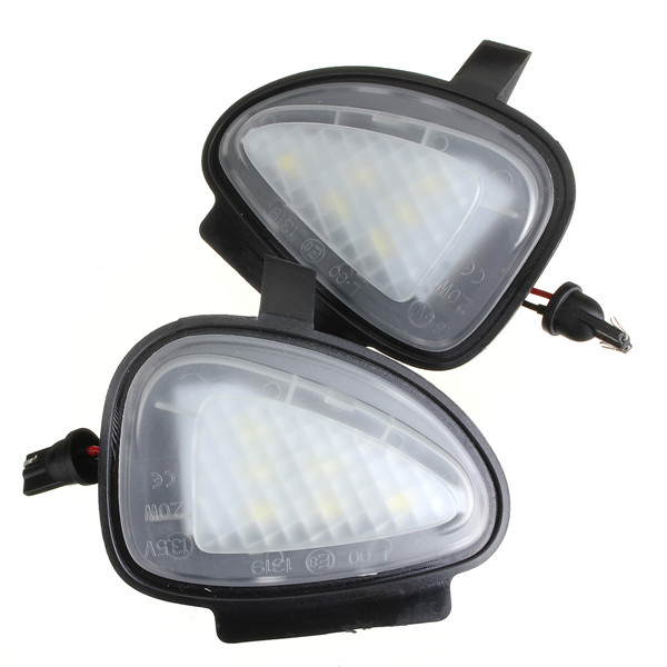 White Under Side Mirror Puddle 6 Led Light Lamp For Vw