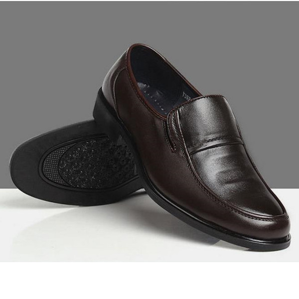 mens business formal shoes artificial leather casual slip