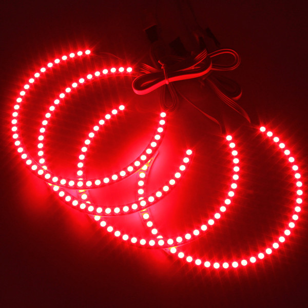 4PCS RGB LED Angel Eyes Halo Ring for BMW E36 E38 E39 E46 M3